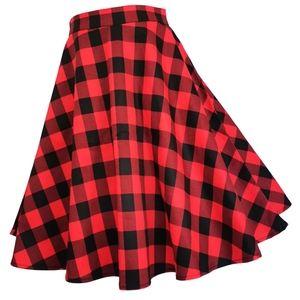 Dresses & Skirts - Pin Up Plaid HP Tartan Flared Swing Skirt